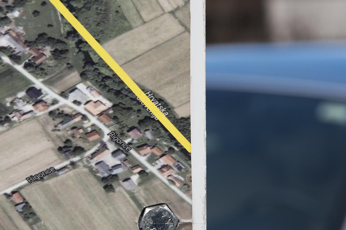 border between Croatia and Slovenia in Harmica/Rigonce